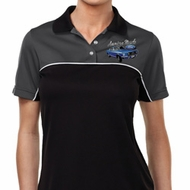 Ford American Muscle 1967 Mustang Pocket Print Ladies Polo Shirt