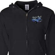 Ford American Muscle 1967 Mustang Pocket Print Mens Full Zip Hoodie