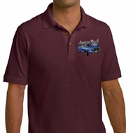 Ford American Muscle 1967 Mustang Pocket Print Mens Pique Polo Shirt