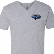 Ford American Muscle 1967 Mustang Pocket Print Mens V-Neck Shirt