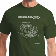 Ford Engine Parts Mens Shirts