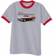 Ford Fairlane 1959 Ringer T-Shirts - 500 Convertible Adult Shirts