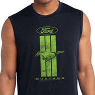 Ford Green Mustang Stripe Dry Wicking Sleeveless Shirt