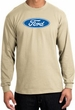 Ford Logo Long Sleeve Shirt - Oval Emblem Adult Sand T-Shirt