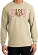 Ford Logo Long Sleeve T-Shirt - 4x4 Diva Classic Car Adult Sand Shirt