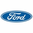 Ford Logo Raglan Shirt - Oval Emblem Adult White/Royal T-Shirt