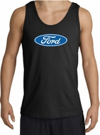 Ford Logo Tank Top - Oval Emblem Classic Car Adult Black Tanktop