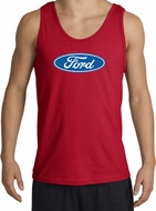 Ford Logo Tank Top - Oval Emblem Classic Car Adult Red Tanktop