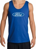 Ford Logo Tank Top - Oval Emblem Classic Car Adult Royal Tanktop