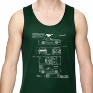 Ford Mustang Blue Print Dry Wicking Tank Top