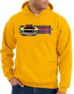 Ford Mustang Boss Hoodie - 302 Yellow Mustang Adult Gold Hoody