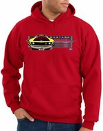 Ford Mustang Boss Hoodie - 302 Yellow Mustang Adult Red Hoody