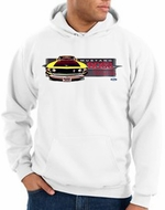 Ford Mustang Boss Hoodie - 302 Yellow Mustang Adult White Hoody