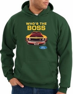 Ford Mustang Boss Hoodie - Who's The Boss 302 Dark Green Hoody