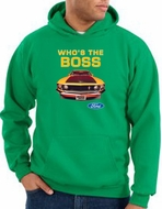 Ford Mustang Boss Hoodie - Who's The Boss 302 Kelly Green Hoody