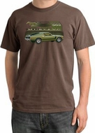 Ford Mustang Boss Pigment Dyed T-Shirts 302 Green Car 1970 Tee Shirts