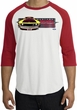 Ford Mustang Boss Raglan Shirt - 302 Yellow Mustang White/Red Tee
