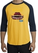 Ford Mustang Boss Raglan Shirt - Who's The Boss 302 Gold/Navy T-Shirt