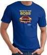 Ford Mustang Boss T-Shirt - Who's The Boss 302 Adult Royal Tee Shirt