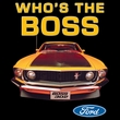 Ford Mustang Boss T-Shirt - Who's The Boss 302 Adult White Tee Shirt
