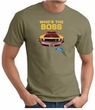 Ford Mustang Boss T-Shirt - Who's The Boss 302 Army Green Tee Shirt