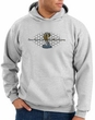 Ford Mustang Cobra Hoodie - Motor Company Grill Adult Ash Hoody