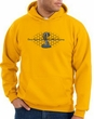 Ford Mustang Cobra Hoodie - Motor Company Grill Adult Gold Hoody