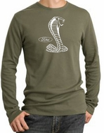 Ford Mustang Cobra Long Sleeve Thermal T-shirt Adult Army Green Shirt