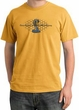 Ford Mustang Cobra Pigment Dyed T-Shirt - Ford Motor Grill Mustard Tee