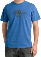 Ford Mustang Cobra Pigment Dyed T-Shirt - Motor Grill Medium Blue Tee