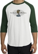 Ford Mustang Cobra Raglan Shirt - Ford Motor Grill Adult White/Forest