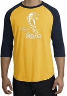 Ford Mustang Cobra Raglan T-shirt - Adult Gold/Navy Shirt