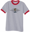 Ford Mustang Cobra Ringer T-shirt - Ford Motor Grill Heather Grey/Red
