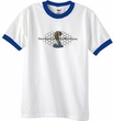 Ford Mustang Cobra Ringer T-shirt - Ford Motor Grill White/Royal Tee