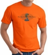 Ford Mustang Cobra T-shirt - Ford Motor Company Grill Orange Tee Shirt