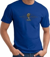 Ford Mustang Cobra T-shirt - Ford Motor Company Grill Royal Tee Shirt