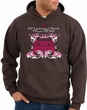 Ford Mustang Hoodie Hooded Sweatshirt Girls Run Wild Brown Hoody