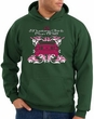 Ford Mustang Hoodie Hooded Sweatshirt Girls Run Wild Dark Green Hoody