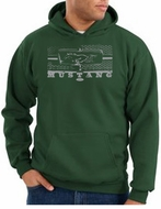 Ford Mustang Hoodie Hooded Sweatshirt Honeycomb Grille Dark Green