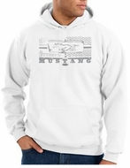 Ford Mustang Hoodie Hooded Sweatshirt Honeycomb Grille White Hoody