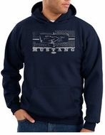 Ford Mustang Hoodie Hooded Sweatshirt Legend Honeycomb Grille Navy