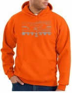 Ford Mustang Hoodie Hooded Sweatshirt Legend Honeycomb Grille Orange