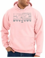 Ford Mustang Hoodie Hooded Sweatshirt Legend Honeycomb Grille Pink