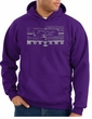 Ford Mustang Hoodie Hooded Sweatshirt Legend Honeycomb Grille Purple