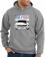 Ford Mustang Hoodie Hooded Sweatshirt USA 1964 Country Heather Hoody