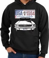 Ford Mustang Hoodie Hooded Sweatshirt USA 1964 Country Hoody