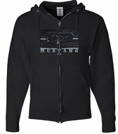 Ford Mustang Hoodie - Legend Honeycomb Full Zip