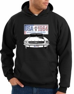Ford Mustang Hoodie USA 1964 Country Black Hoody