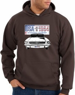 Ford Mustang Hoodie USA 1964 Country Brown Hoody