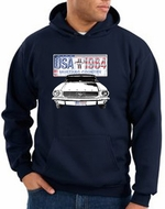 Ford Mustang Hoodie USA 1964 Country Navy Hoody